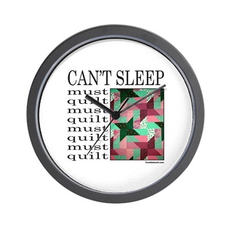 QUILT/QUILTING Wall Clock