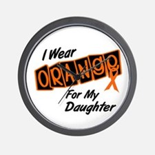 I Wear Orange For My Daughter 8 Wall Clock