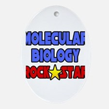 """Molecular Biology Rock Star"" Oval Ornament"