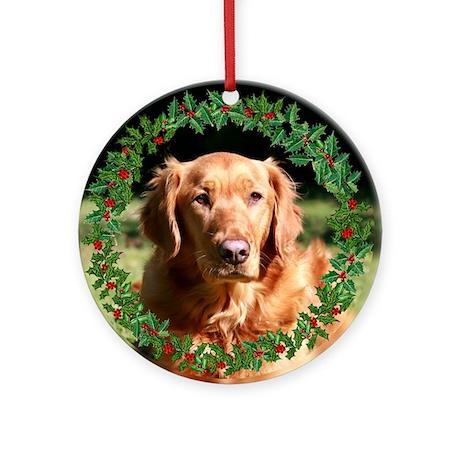Golden Retriever Holiday Ornament (Round)