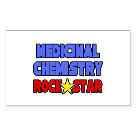 """Med Chemistry Rock Star"" Rectangle Sticker"