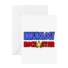 """Immunology Rock Star"" Greeting Card"