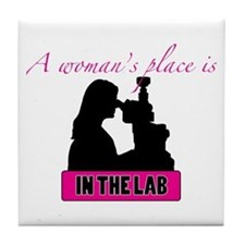 A Woman's Place Tile Coaster