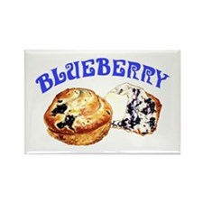 Painted Blueberry Muffins Rectangle Magnet