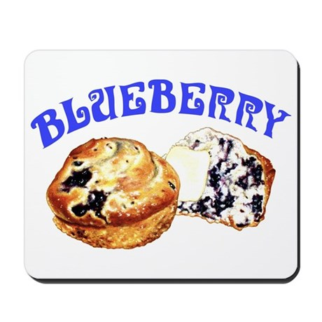 Painted Blueberry Muffins Mousepad