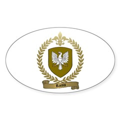 RACOIS Family Crest Oval Decal