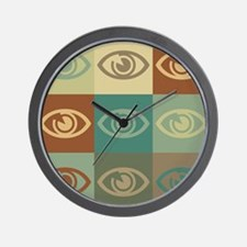 Optometry Pop Art Wall Clock