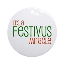 Festivus Miracle Ornament (Round)