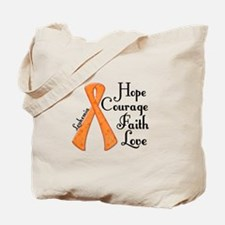 Hope Courage Faith Love LEUKEMIA Tote Bag