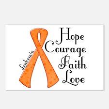 Hope Courage Faith Love LEUKEMIA Postcards (Packag