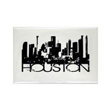 Houston Texas Downtown Graphi Rectangle Magnet