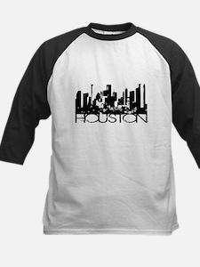 Houston Texas Downtown Graphi Kids Baseball Jersey