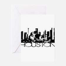 Houston Texas Downtown Graphi Greeting Card