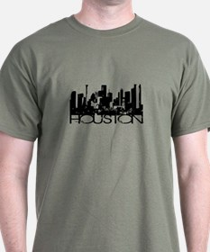 Houston Texas Downtown Graphi T-Shirt