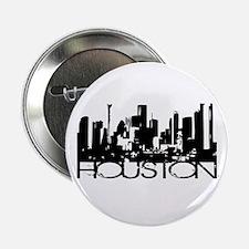"""Houston Texas Downtown Graphi 2.25"""" Button"""