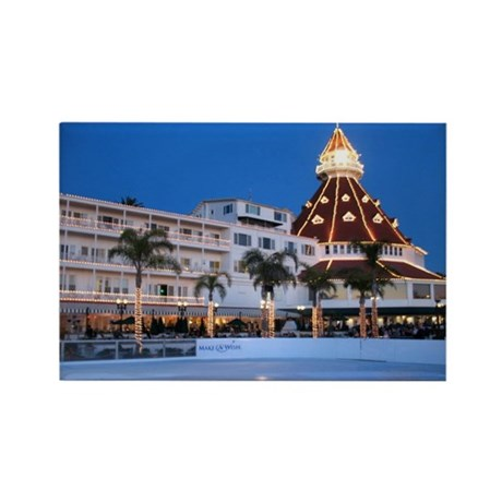 Hotel Del Coronado Holiday Rectangle Magnet