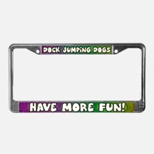 More Fun Dock Jumping License Plate Frame