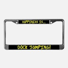 Happiness is Dock Jumping License Plate Frame