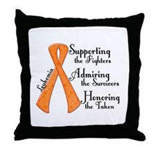 Supporting Admiring Honoring 4 Throw Pillow