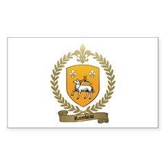 RAIMBEAU Family Crest Rectangle Decal