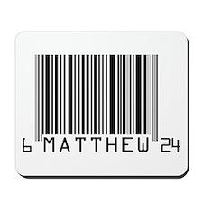 Matthew 6:24 Personal Code Mousepad