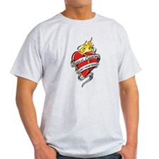 Brain Cancer Tattoo Heart T-Shirt