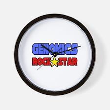 """""""Genomics Rock Star"""" Wall Clock"""
