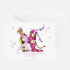 Katty Diva Bubbly Greeting Card
