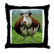 Plump Cow Throw Pillow