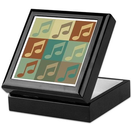 Music Pop Art Keepsake Box