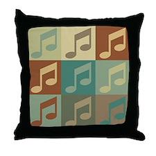 Music Pop Art Throw Pillow