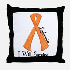 I Will Survive LEUKEMIA Throw Pillow