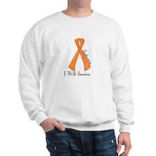 I Will Survive LEUKEMIA Sweatshirt