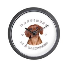 Happiness is a Dachshund! Wall Clock