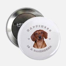 """Happiness is a Dachshund! 2.25"""" Button"""