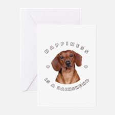 Happiness is a Dachshund! Greeting Cards (Pk of 10
