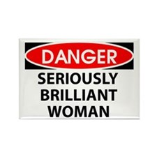 Seriously Brilliant Woman Rectangle Magnet