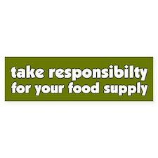 Food Supply Bumper Bumper Sticker