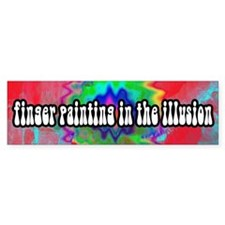 Finger Painting in the Illusion Bumper Car Sticker