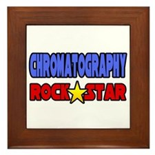 """Chromatography Rock Star"" Framed Tile"