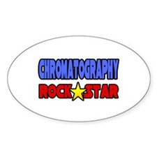 """Chromatography Rock Star"" Oval Decal"