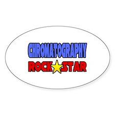 """Chromatography Rock Star"" Oval Stickers"