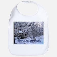 Cabin in Snow Bib