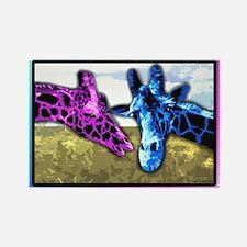 Cute Giraffe Rectangle Magnet