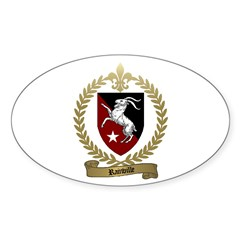 RAINVILLE Family Crest Oval Decal