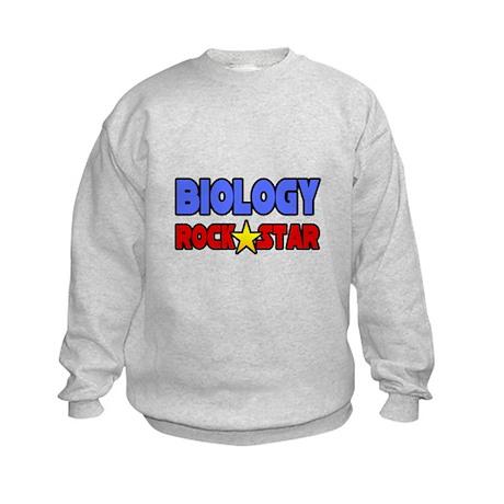 """Biology Rock Star"" Kids Sweatshirt"