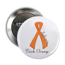 """Awareness Ribbon THINK ORANGE 2.25"""" Button"""