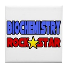 """Biochemistry Rock Star"" Tile Coaster"