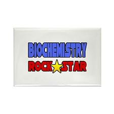 """Biochemistry Rock Star"" Rectangle Magnet"
