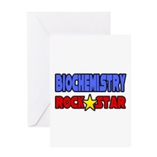 """Biochemistry Rock Star"" Greeting Card"